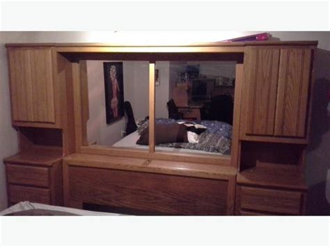 bed wall unit queen size bed wall unit central nanaimo parksville