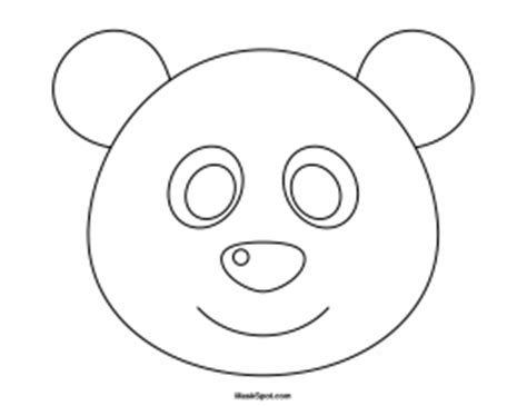 panda template printable panda mask