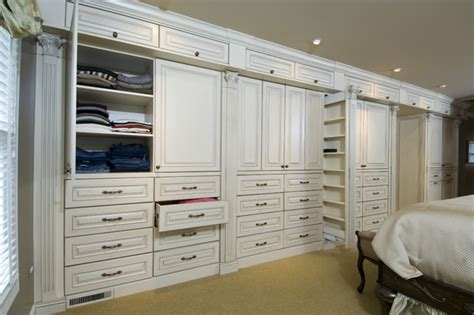 master bedroom cabinetry traditional closet chicago  bh woodworking