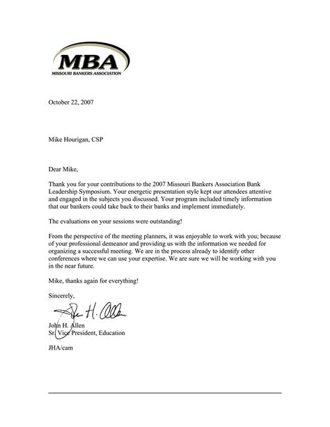 Mba Support Letter From Employer by Letter Of Recommendation For Mba Program Letter Of