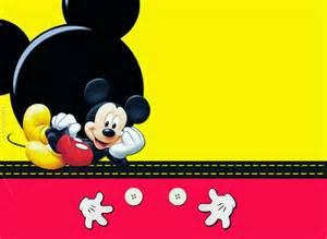 kit de mickey en rojo y amarillo para imprimir gratis
