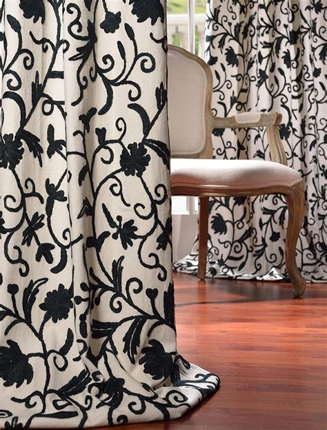 crewel curtains 16 best crewel embroidered curtains images on pinterest