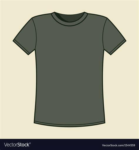 Blank Gray T Shirt Template Royalty Free Vector Image Grey T Shirt Template
