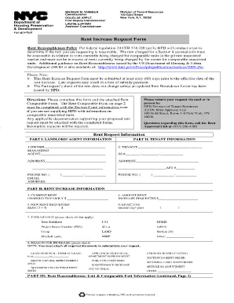 section 8 100 gold street hpd rent request form fill online printable fillable