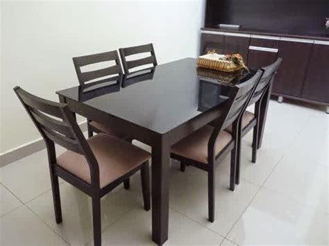 Set Meja Makan Salina K6 Kayu Jati meja makan minimalis terbaru kursi 6 jayafurni mebel