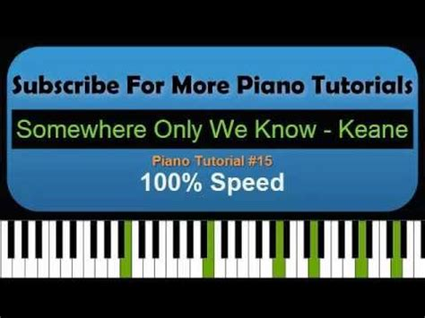 Tutorial Piano Keane | somewhere only we know keane piano tutorial 15 youtube