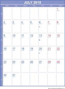 july calendar template july 2018 calendar template portrait printable 2017