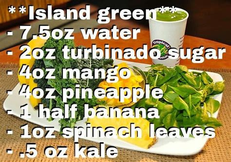 Detox Island Green Smoothie Recipe by Best 25 Tropical Smoothie Recipes Ideas On