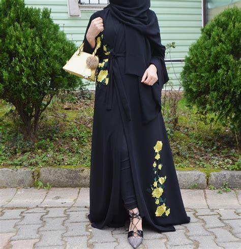 abaya pour mohajaba chic style   hijab fashion