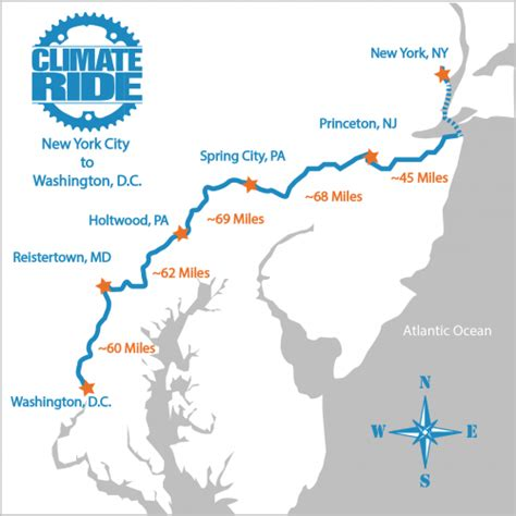 washington dc map new york the nyc dc ride climate ride
