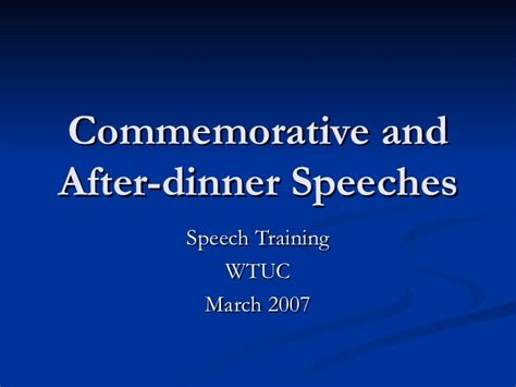 Sle Of After Dinner Speech commemorative speeches