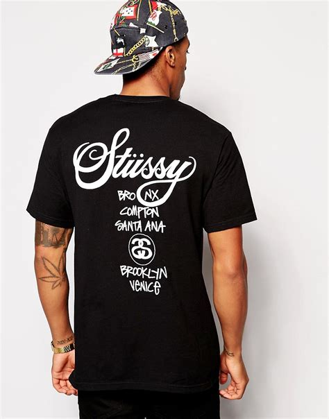 Tshirt Smtown World Tour 4 Stussy Stussy T Shirt With World Tour Print At Asos