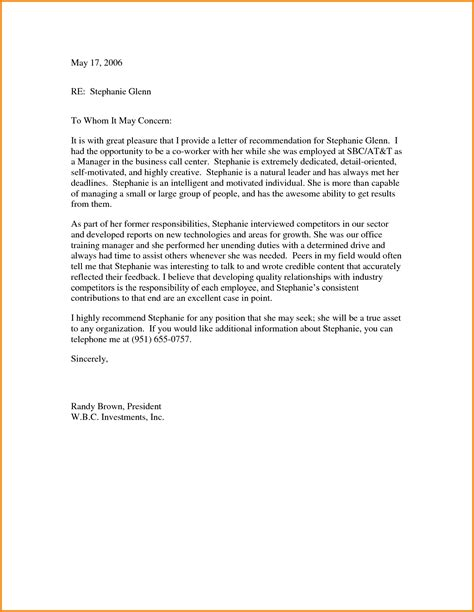 letter of recommendation from coworker recommendation letter 2017 cover letter exle