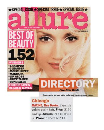 best hair color tested by allure magazine allure october 2005 maxine salon tina deeke expertly