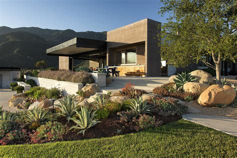 House Patio Design Modern Landscape Architecture Design In The Backyard Of Modern House Planted With Various