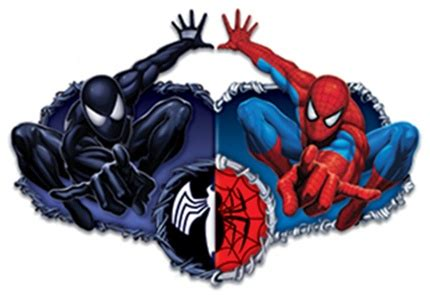 spiderman henna tattoo and venom temporary the ying and yang of