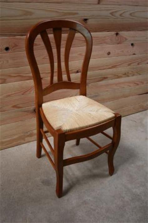chaise de style louis philippe en merisier massif