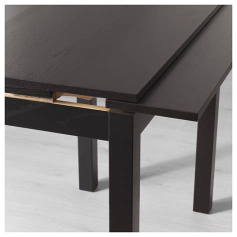 ikea black brown dining table bjursta extendable table brown black 50 70 90x90 cm ikea