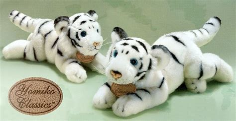 Lu Yomiko stuffed white tiger