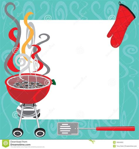 bbq party invitation stock vector image of flames frame