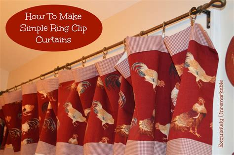 diy curtain rings with clips cheap and easy curtain ideas exquisitely unremarkable