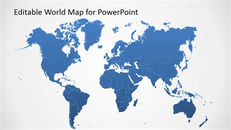 Editable Worldmap For Powerpoint Slidemodel World Template Powerpoint