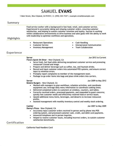 Work Resume by Free Resume Exles By Industry Title Livecareer