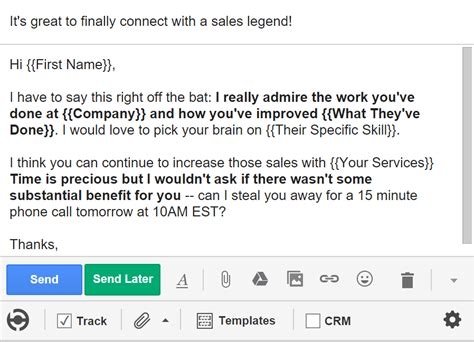 Great Sales Email Templates by 5 Cold Email Templates That Actually Get Responses Bananatag