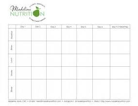 Diet Plan Template by Free Meal Plan Template Madeline Nutrition