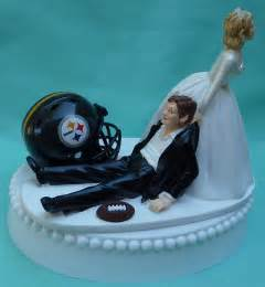 football wedding cake toppers wedding cake topper pittsburgh steelers football themed w