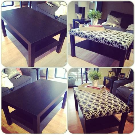 coffee table into ottoman diy ikea coffee table turned ottoman craft ideas
