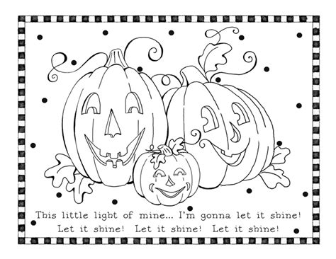 Religious Pumpkin Coloring Pages | let it shine coloring page karla s korner