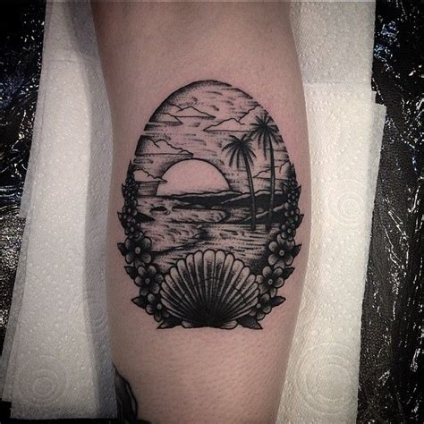 beach scene tattoo designs 233 best images about tattoos tropical tiki on