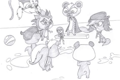 free coloring pages of zoe from littlest petshop