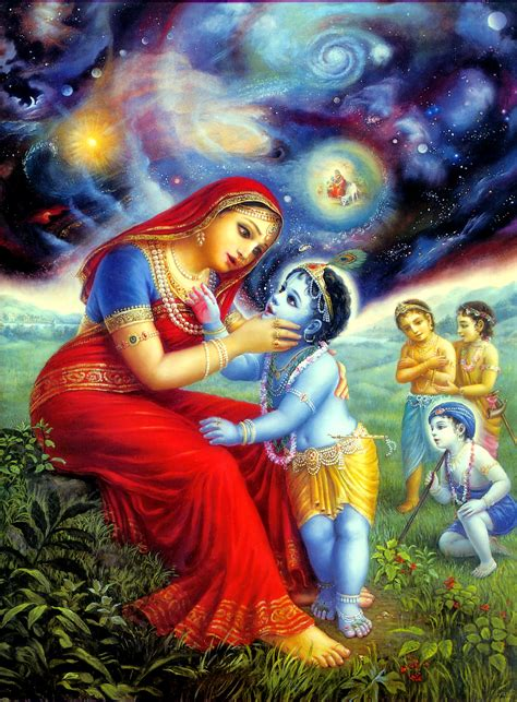 iskcon bbt krishna opens  mouth  shows  universe