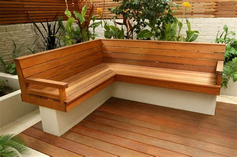 depiction of outdoor corner bench ideas which are
