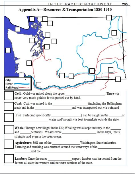 7th Grade History Worksheets by 7th Grade Washington State History Lesson Plan Resource