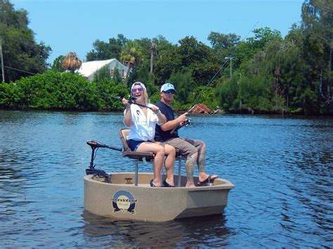 round small boat roundabout now available with two seats sportsmans lifestyle