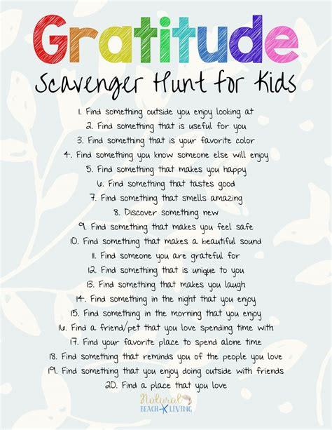 scavenger hunt the best gratitude scavenger hunt for and adults
