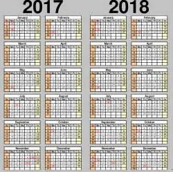Kalender 2017 And 2018 School Calendar 2017 2018 2017 2018 School Calendar