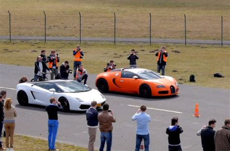 Bugatti And Lamborghini Racing Bugatti Veyron With Mansory Exhaust Goes Racing