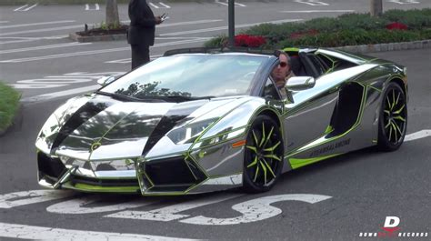 chrome lamborghini chrome lamborghini aventador roadster start up