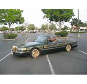 Supreme Car Club Lincoln Towncar Lowrider Drop Of Gold