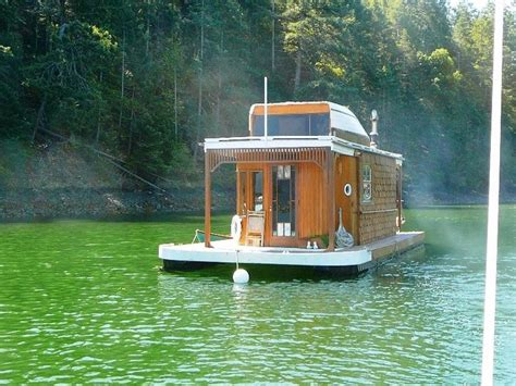 home built boat plans lovely little wooden houseboat houseboats pinterest