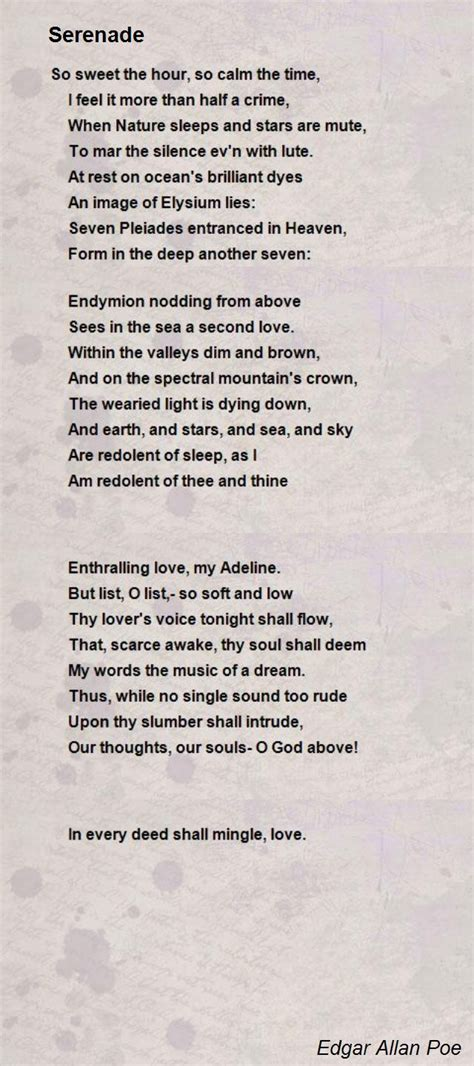 edgar allan poe poems bio serenade poem by edgar allan poe poem hunter