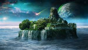 fantasy waterfall castle desktop wallpapers new hd
