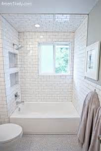 Subway Tile Bathroom Ideas by Subway Tile Shower Niches Bathrooms Pinterest