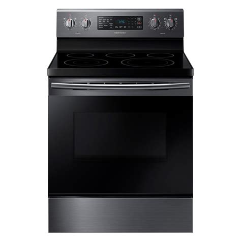 Samsung Oven Samsung 30 In 5 9 Cu Ft Single Oven Electric Range With Self Cleaning In Fingerprint