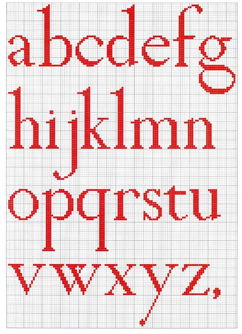 cross stitch mania free alphabet cross stitch chart