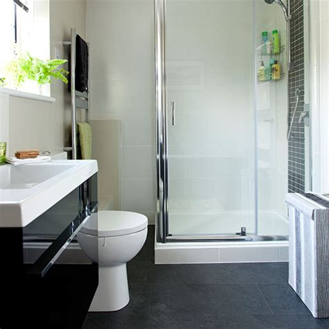 white and grey tiled bathroom decorating ideal home